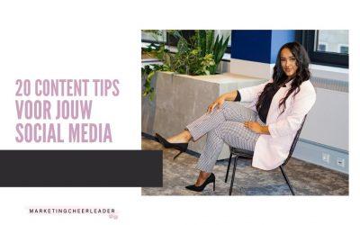 20 content tips voor jouw social media