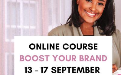 Online cursus Boost your brand | 13 september